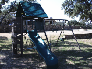This Lifetime metal swingset is a vast improvement over what we playsed on as kids.