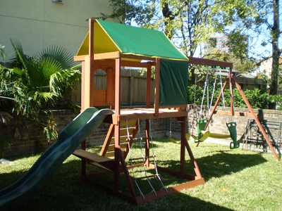 Playset is now ready for play.