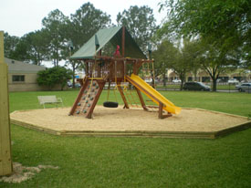 We recommend playset fall areas for all playgrounds.