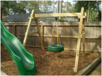 Upgrades add usuable life to an old swingset.